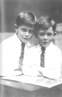 Rawdon Middleton (left) 10 and brother Osman 8 in 1927.