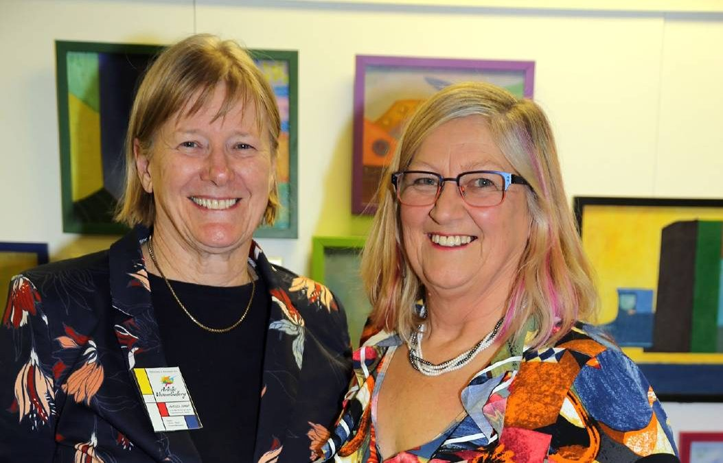 The dynamic duo of the artist Margaret Hadfield and the historian Dr Kathryn Spurling